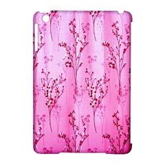 Pink Curtains Background Apple Ipad Mini Hardshell Case (compatible With Smart Cover) by Simbadda