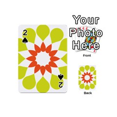 Tikiwiki Abstract Element Flower Star Red Green Playing Cards 54 (mini)  by Alisyart