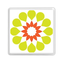 Tikiwiki Abstract Element Flower Star Red Green Memory Card Reader (square)  by Alisyart