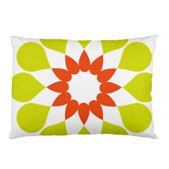 Tikiwiki Abstract Element Flower Star Red Green Pillow Case (two Sides) by Alisyart