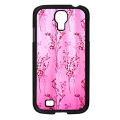 Pink Curtains Background Samsung Galaxy S4 I9500/ I9505 Case (black) by Simbadda
