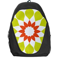 Tikiwiki Abstract Element Flower Star Red Green Backpack Bag by Alisyart