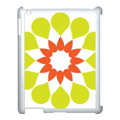 Tikiwiki Abstract Element Flower Star Red Green Apple Ipad 3/4 Case (white) by Alisyart