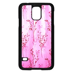 Pink Curtains Background Samsung Galaxy S5 Case (black) by Simbadda