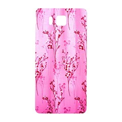 Pink Curtains Background Samsung Galaxy Alpha Hardshell Back Case by Simbadda