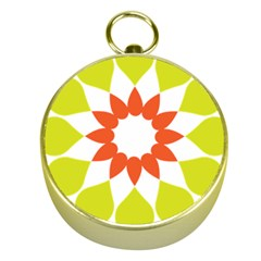 Tikiwiki Abstract Element Flower Star Red Green Gold Compasses by Alisyart