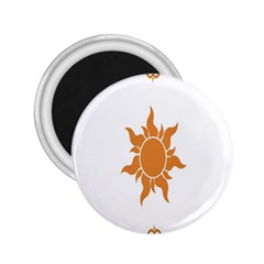 Sunlight Sun Orange 2 25  Magnets by Alisyart