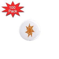 Sunlight Sun Orange 1  Mini Magnets (100 Pack)  by Alisyart