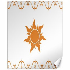 Sunlight Sun Orange Canvas 11  X 14   by Alisyart