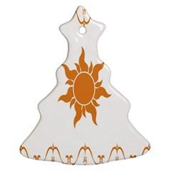 Sunlight Sun Orange Christmas Tree Ornament (two Sides) by Alisyart