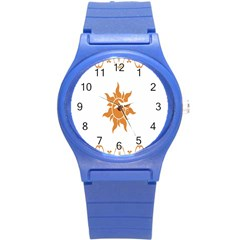 Sunlight Sun Orange Round Plastic Sport Watch (s) by Alisyart