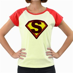 Super women Women s Cap Sleeve T-Shirt (Colored) by pushu