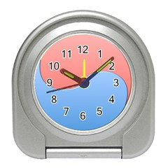 Taekwondo Sign Red Blue Travel Alarm Clocks by Alisyart