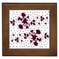 Floral Pattern Framed Tiles by Simbadda