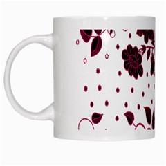 Floral Pattern White Mugs by Simbadda
