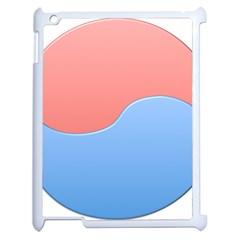 Taekwondo Sign Red Blue Apple Ipad 2 Case (white) by Alisyart