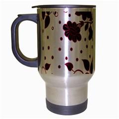 Floral Pattern Travel Mug (silver Gray) by Simbadda