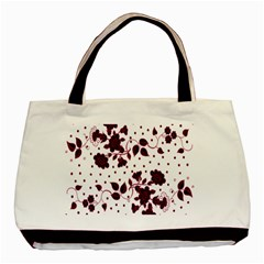 Floral Pattern Basic Tote Bag (two Sides) by Simbadda