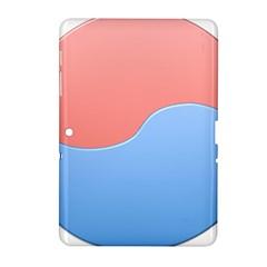 Taekwondo Sign Red Blue Samsung Galaxy Tab 2 (10 1 ) P5100 Hardshell Case  by Alisyart