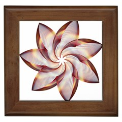 Prismatic Flower Line Gold Star Floral Framed Tiles by Alisyart