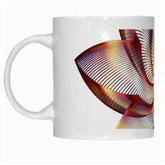 Prismatic Flower Line Gold Star Floral White Mugs by Alisyart