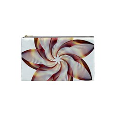 Prismatic Flower Line Gold Star Floral Cosmetic Bag (small)  by Alisyart