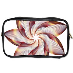 Prismatic Flower Line Gold Star Floral Toiletries Bags 2 Side by Alisyart