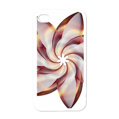 Prismatic Flower Line Gold Star Floral Apple Iphone 4 Case (white) by Alisyart
