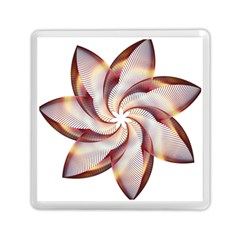 Prismatic Flower Line Gold Star Floral Memory Card Reader (square)  by Alisyart