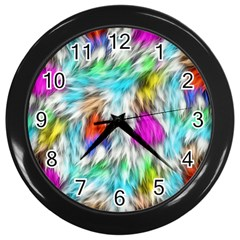 Fur Fabric Wall Clocks (black)