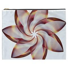 Prismatic Flower Line Gold Star Floral Cosmetic Bag (xxxl)