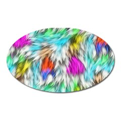 Fur Fabric Oval Magnet by Simbadda