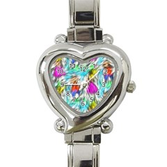 Fur Fabric Heart Italian Charm Watch by Simbadda