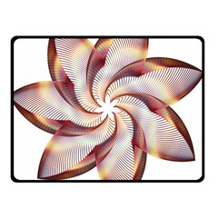 Prismatic Flower Line Gold Star Floral Double Sided Fleece Blanket (small)  by Alisyart