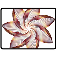 Prismatic Flower Line Gold Star Floral Double Sided Fleece Blanket (large)  by Alisyart
