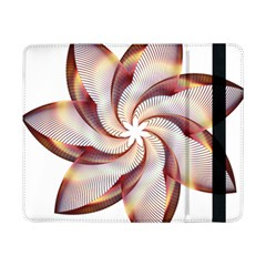 Prismatic Flower Line Gold Star Floral Samsung Galaxy Tab Pro 8 4  Flip Case by Alisyart