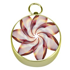 Prismatic Flower Line Gold Star Floral Gold Compasses by Alisyart