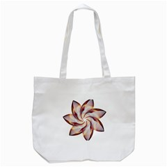 Prismatic Flower Line Gold Star Floral Tote Bag (white) by Alisyart
