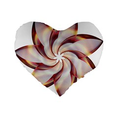 Prismatic Flower Line Gold Star Floral Standard 16  Premium Flano Heart Shape Cushions by Alisyart