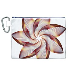 Prismatic Flower Line Gold Star Floral Canvas Cosmetic Bag (xl) by Alisyart