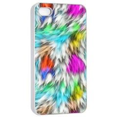 Fur Fabric Apple Iphone 4/4s Seamless Case (white) by Simbadda