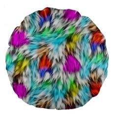 Fur Fabric Large 18  Premium Flano Round Cushions by Simbadda