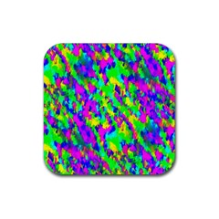Red Black Gray Background Rubber Coaster (square)  by Simbadda