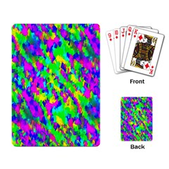 Red Black Gray Background Playing Card by Simbadda