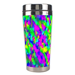 Red Black Gray Background Stainless Steel Travel Tumblers by Simbadda