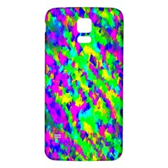 Red Black Gray Background Samsung Galaxy S5 Back Case (white) by Simbadda