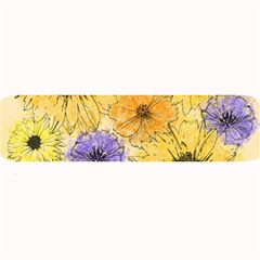 Multi Flower Line Drawing Large Bar Mats by Simbadda