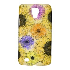 Multi Flower Line Drawing Galaxy S4 Active by Simbadda