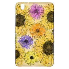 Multi Flower Line Drawing Samsung Galaxy Tab Pro 8 4 Hardshell Case by Simbadda