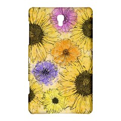 Multi Flower Line Drawing Samsung Galaxy Tab S (8 4 ) Hardshell Case  by Simbadda